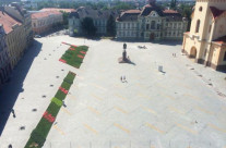 Freedom square in Zrenjanin (Serbia)