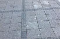 The pedestrian sidewalks in Jablanica (BiH)