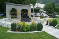 The missing and dead soldiers memorial in Jablanica (BiH)