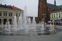 The Ante Starčević Square in Osijek (Croatia)