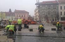 Freedom square in Zrenjanin (Serbia)